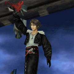 Victory pose in <i>Remastered</i>.