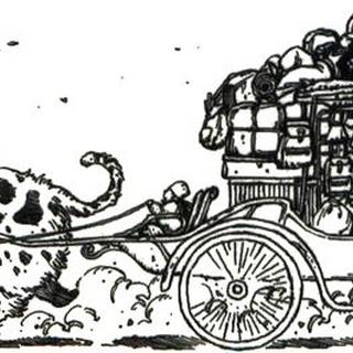 Towing cargo animal