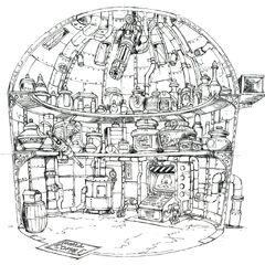 Концепт-арт магазина предметов, где находится Лучшее сердце Тифы.