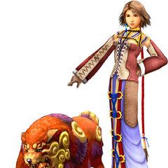 Yuna as a Trainer.