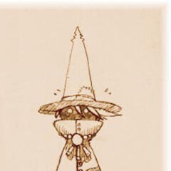 Early <i>Final Fantasy IX</i> concept art of a Black Mage.