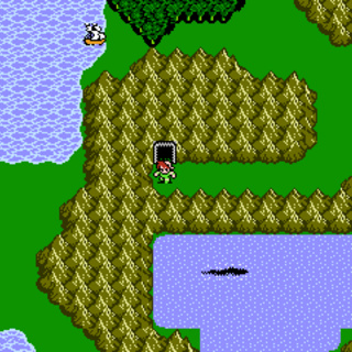 Gulgan Gulch on the World Map (NES).