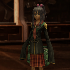 Mutsuki in-game in her Class Zero uniform.