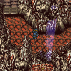 The outside of Kefka's Tower (SNES).