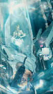 Mevius girl trapped in a crystal