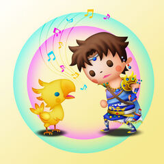 Artwork of Boco and Bartz in <i>Theatrhythm Final Fantasy</i>.