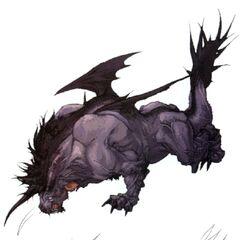 Концепт-арт крылатого Бегемота для <i>Final Fantasy XI</i>.