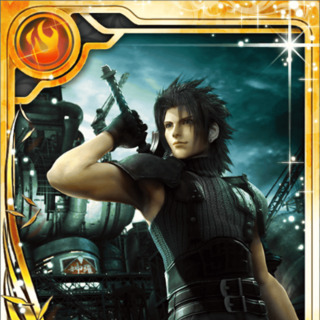 Zack's <i>Crisis Core</i> card (SR+ rarity).