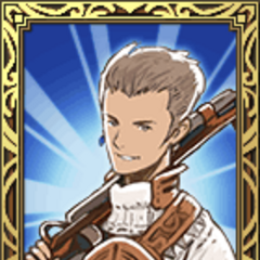 Balthier's Sky Pirate portrait in <i>Final Fantasy Tactics S</i>.