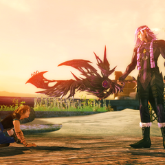 Caius wielding Chaos's Revenge in <i>Final Fantasy XIII-2</i>.