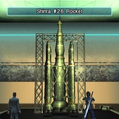 The Shinra #26 Rocket in the Exhibit Room.