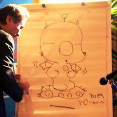 Ёситака Амано рисует Мога.