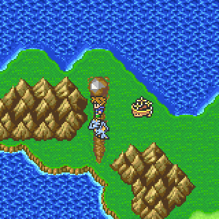 Walse Meteorite on the World Map (GBA).