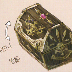 Gaia chest artwork from <i>The Art of Final Fantasy IX</i>.