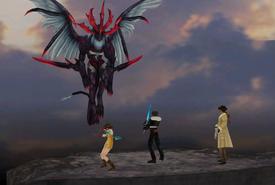 Griever boss battle from FFVIII Remastered