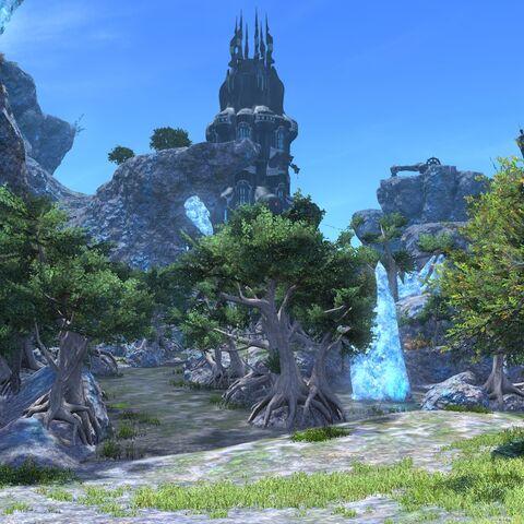 Uma visão do Castrum Centri durante o dia, a partir do