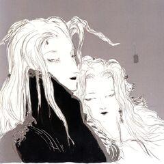 Yoshitaka Amano artwork of Sephiroth and <a href=