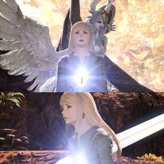 Аллюзия в <i>Final Fantasy XIV: Shadowbringers</i>.