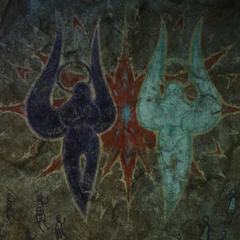 The art of Zodiark fighting Hydaelyn.