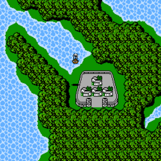Lufenia on the World Map (NES).