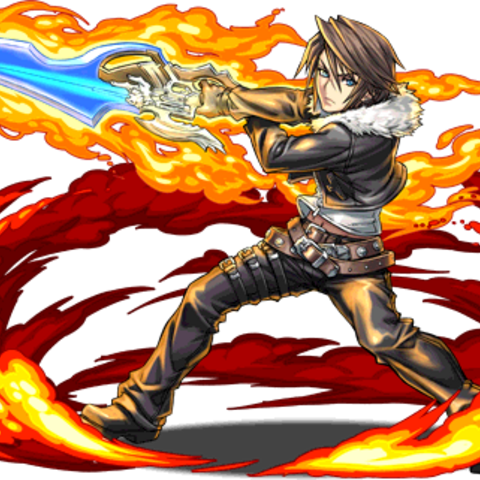 Squall brandishing the <a href=