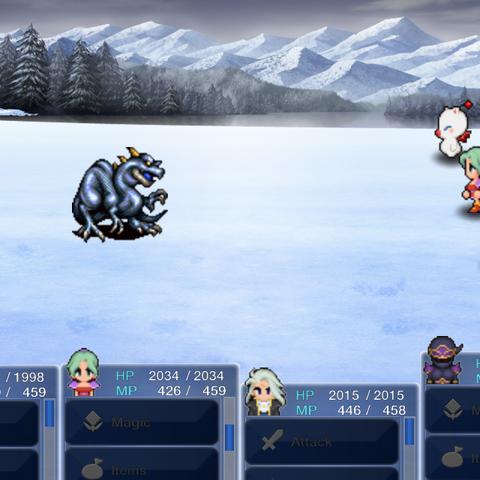 Сражение с Ледяным драконом в версии игры для <a href=