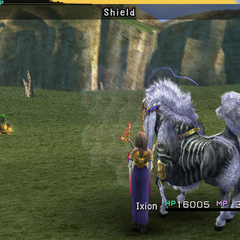 Ixion using Shield.