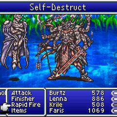 Gilgamesh se sacrifica para derrotar Necrophobe.