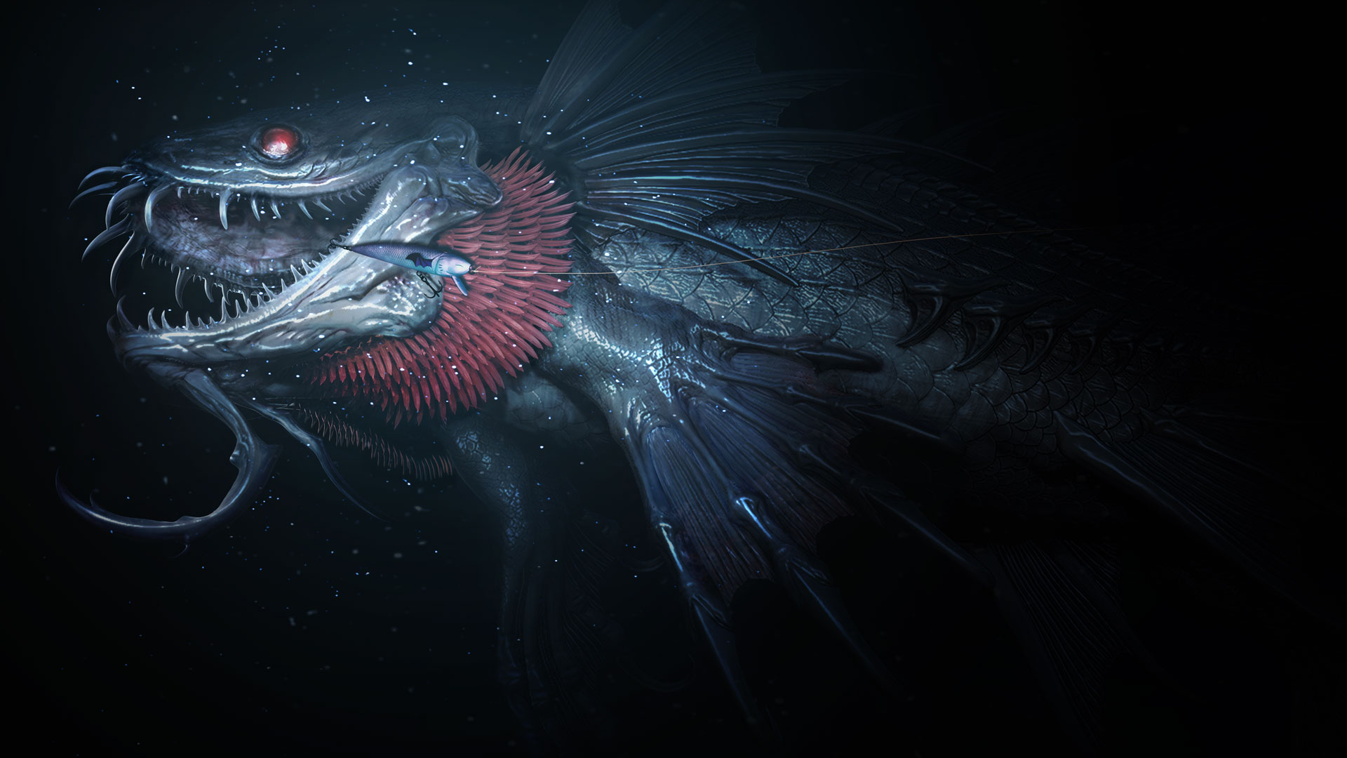 Image monster of the deep ffxv final fantasy for Final fantasy 15 fishing gear