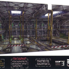 Imperial dreadnought interior.