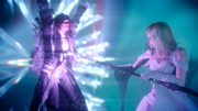 Aera attacks Ardyn in FFXV Episode Ardyn ending