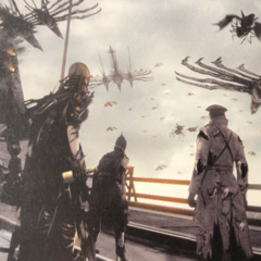 Biggs, Wedge and Aranea in a chaotic Gralea.