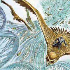 Colored Desch art from <i>Yūkyū no Kaze Densetsu: Final Fantasy III Yori</i>.
