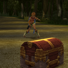 Treasure chest in battle.