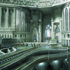 Concept art of the gates.