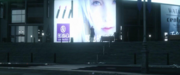 Billboard with a woman in Kingsglaive FFXV