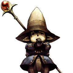 Artwork of a Tarutaru Black Mage.