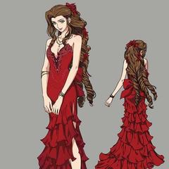 Artwork of Aerith's third dress.