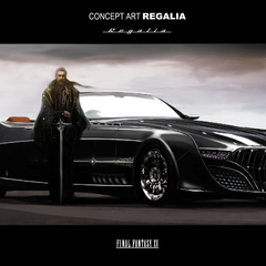 Regis and the car, Regalia.