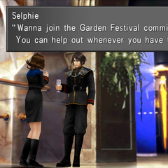 Selphie asks Squall to join her committee.