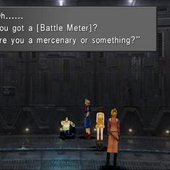 A prisoner in D-District Prison enhances the party's Battle Meter.