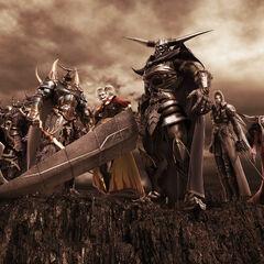 Warriors of Chaos CG Artwork.