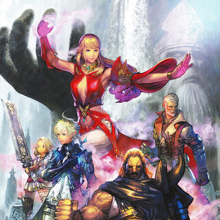 Raubahn in <i>Stormblood</i> promotional artwork.