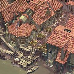 CG artwork for Alexandria's town harbor by Christian Lorenz Scheurer.