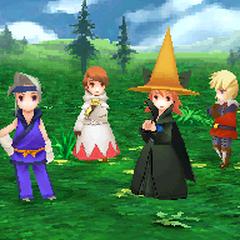 Grass battle background in <i><a href=