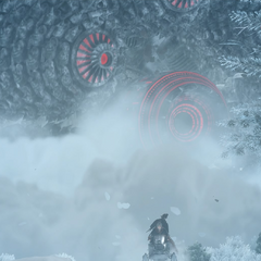 Immortalis chases after Aranea and Prompto's snowmobile.