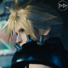 Cloud meets the player.