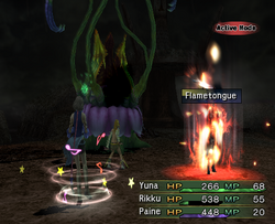 FFX-2 Flametongue Activated