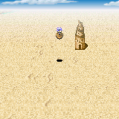 Mirage Tower on the World Map (GBA).