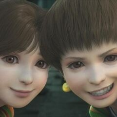 Palom with his sister in the opening FMV (DS).